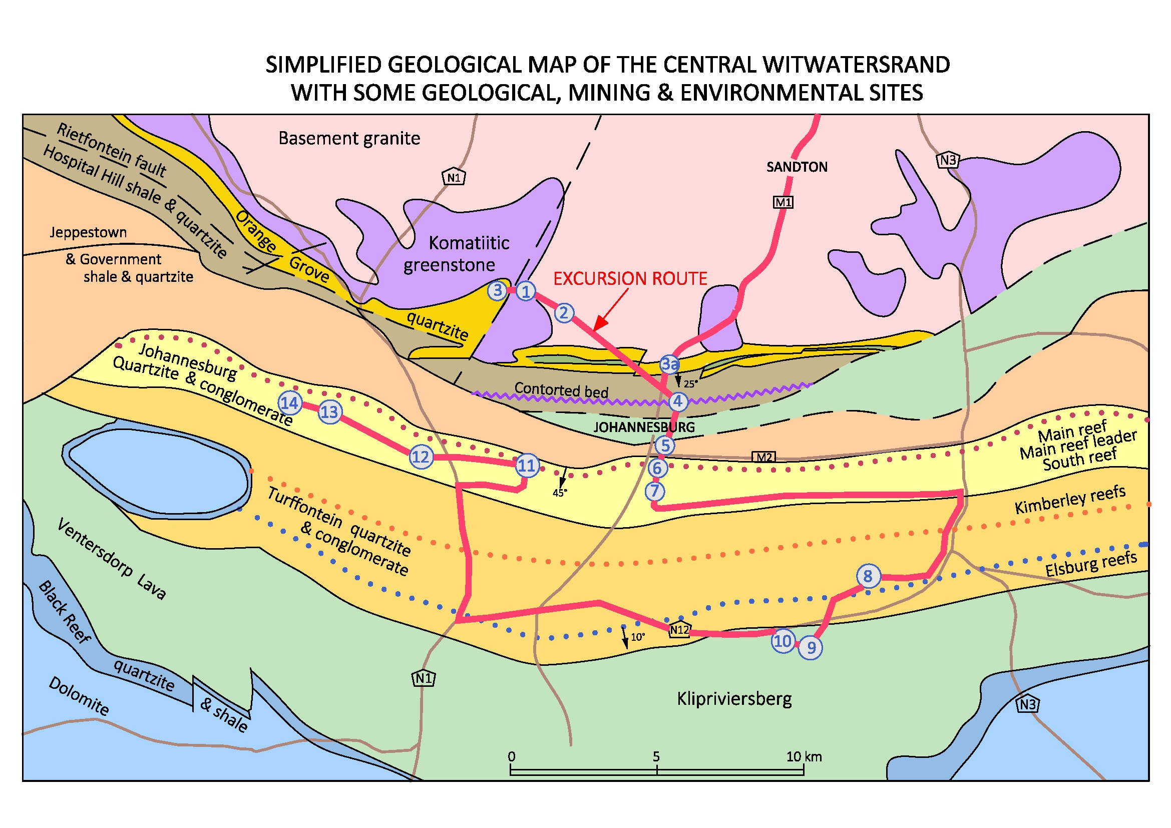 ODPre2 Witwatersrand geology historical mining and environment